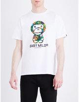 A Bathing Ape Baby Milo Logo-print Cotton-jersey T-shirt