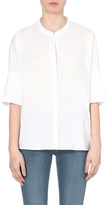 James Perse Cotton-blend tunic shirt