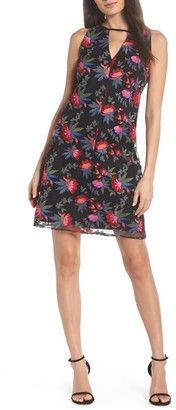 Sam Edelman Floral Embroidered Sleeveless Mini Dress