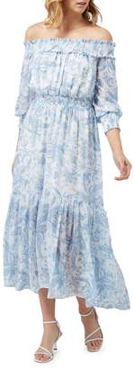 Ever New Annie Ruched Bardot Maxi Dress