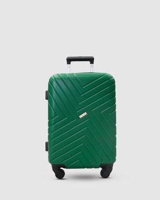 Jett Black Pine Green Maze Carry On Suitcase
