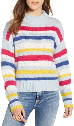 Rebecca Minkoff Brittany Stripe Mock Neck Sweater