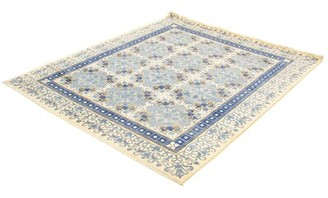 """Ecarpetgallery Hand-Knotted Signature Collection Ivory Wool Rug 8'2"""" X 9'11"""