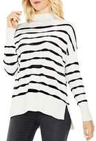 Vince Camuto Mock Neck Wavy Stripe Sweater