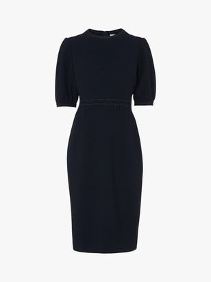 LK Bennett Wren Round Neck Dress, Black