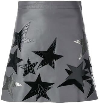 Manokhi Star Patch A-Line Skirt