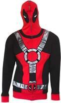 Marvel Universe Deadpool Costume Men's Full Zip Mask Hoodie