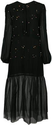 Cynthia Rowley Jules embellished tulle dress