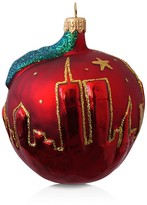 Mia Big Apple Glass Ornament