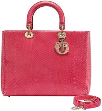 Christian Dior Lady Pink Python Handbags