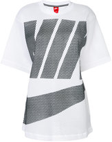 Nike logo mesh top - women - Nylon - M