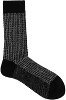 DorÉ DorÉ Grey Houndstooth Wool Blend Socks