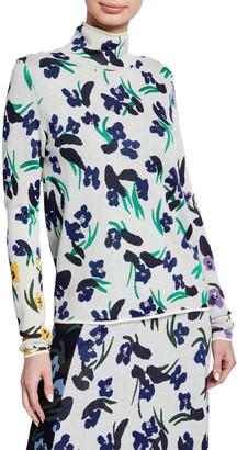 Christian Wijnants Klara Floral-Print Turtleneck Sweater