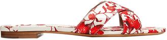 Tabitha Simmons Lassie Floral-print Duchesse-satin Slides