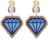 Shourouk Emojibling diamond-motif earrings