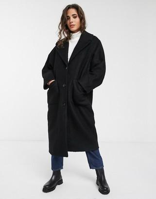Weekday Jennie coat in black