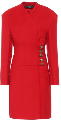 Balmain Wool wrap coat