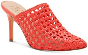 INC International Concepts Inc Women's Celestia Woven Mules, Created for Macy's Women's Shoes