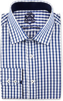 English Laundry Plaid Long-Sleeve Dress Shirt, Blue