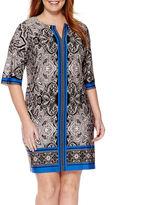 Studio 1 3/4-Sleeve Keyhole Sheath Dress - Plus