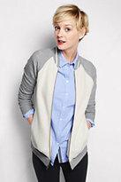 Lands' End Women's Jacquard Jacket-Gray Heather