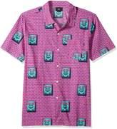 Obey Men's Brick Short Sleeve Button up Woven Shirt
