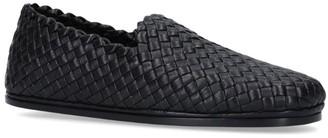 Bottega Veneta Leather Intrecciato Slip-On Loafers