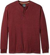 G.H. Bass & Co. Men's Big and Tall Long Sleeve Henley Shirt