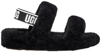 UGG Oh Yeah Sheepskin Slingback Slippers