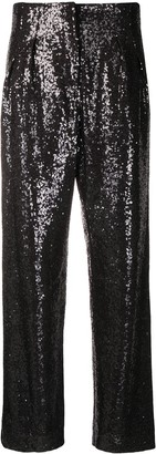 In The Mood For Love Clyde wide-leg sequin trousers