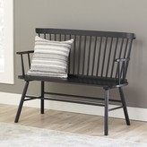 Laurèl Spindle Solid Wood Bench Foundry Modern Farmhouse Color: Black