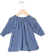 Makie Girls' Gingham Print Long Sleeve Top