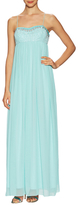 Aidan Mattox Spagehetti Straps Beaded Empire Waist Gown