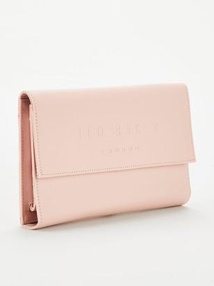 Ted Baker Giliani Deboss Branded Travel Wallet - Dusky Pink