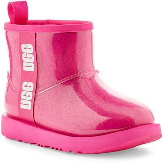 UGG Girl's Classic Mini Logo See-Through Waterproof Boots, Toddler/Kids