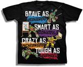 Freeze Black 'Brave As Smart As Crazy As Tough As' TMNT Tee - Boys