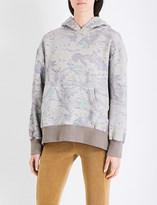 Yeezy Season 4 leaf-printed cotton-jersey hoody