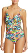 Paul Smith Watercolor Balconette One Piece Swimsuit