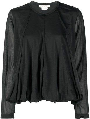Comme des Garcons Ruffled Style Longsleeved Top