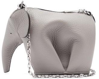 Loewe Elephant Leather Mini Crossbody Pouch - Grey