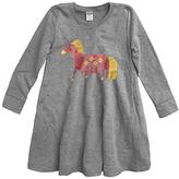Urban Smalls Heather Gray Fanciful Unicorn A-Line Dress - Toddler & Girls