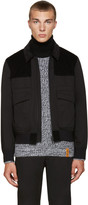 Kenzo Black Twill and Corduroy Jacket
