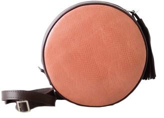 "Kartu Studio Natural Leather Cross Body Bag Clutch ""Muscat"" Coral Snake Print Burgundy"