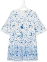 Ermanno Scervino floral print tunic dress