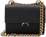 Marni Bandoleer Shoulder Bag in Black & Dusty