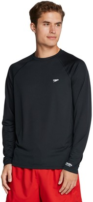 Speedo Men's Quick-Dry UPF 50+ Long Sleeve Swim Tee