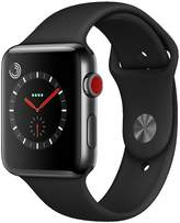 Apple Watch Series 3 (GPS + Cellular), 42mm Space Black Stainless Steel Case With Black Sport Band