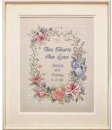 Dimensions Needlecrafts Stamped Cross Stitch, Two Hearts Wedding Record