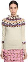 Loewe Wool & Alpaca Intarsia Knit Sweater