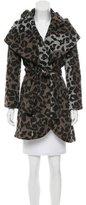 Tahari Knit Leopard Print Jacket